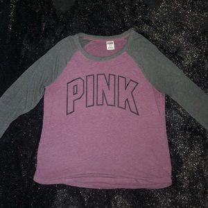 Pink 3/4 length Sleeve Shirt Size L